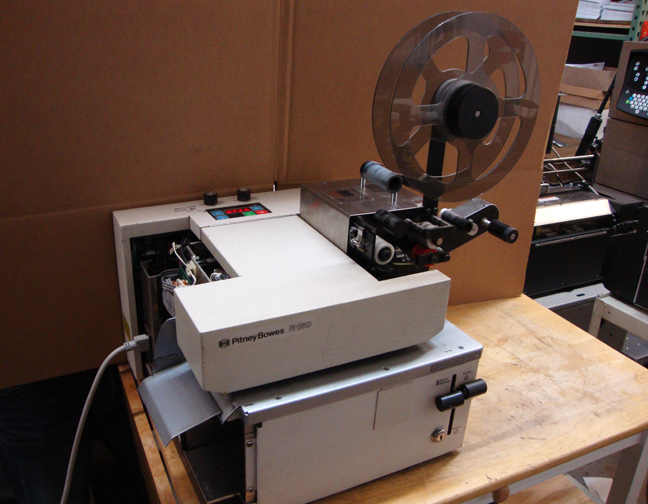 Pitney Bowes R150 Base With Postmatic 6000sa Stamp Affixer